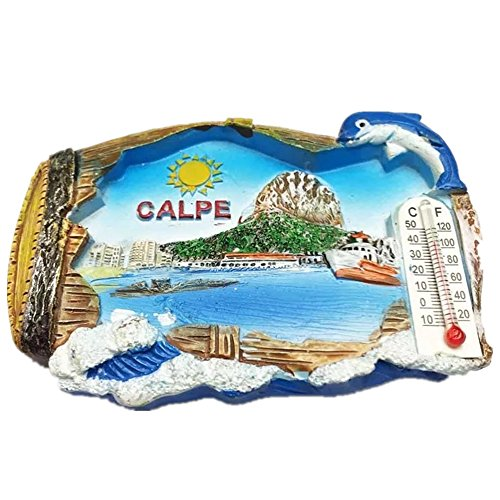 3D fridge magnet 3D with design of Spain made of resin, travel collection, ideal as a souvenir of travel, tourist gift, home and kitchen decoration, magnetic magnet for fridge