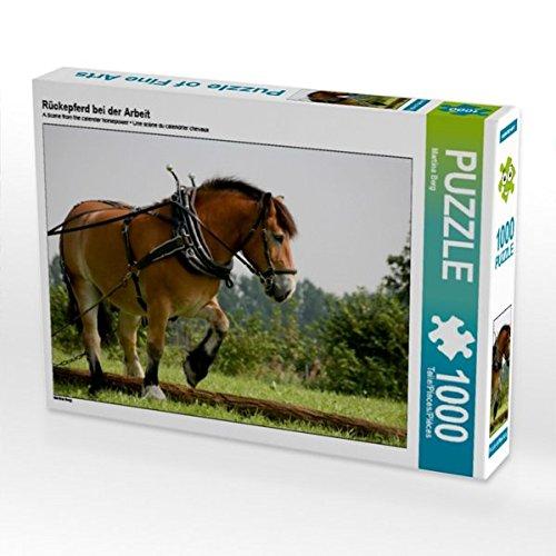 Rückepferd bei der Arbeit 1000 Teile Puzzle quer (CALVENDO Tiere) (Biologie Der Nutztiere)