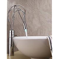 contemporanea finitura cromo, una maniglia portato lavandino rubinetto del bagno (alto)