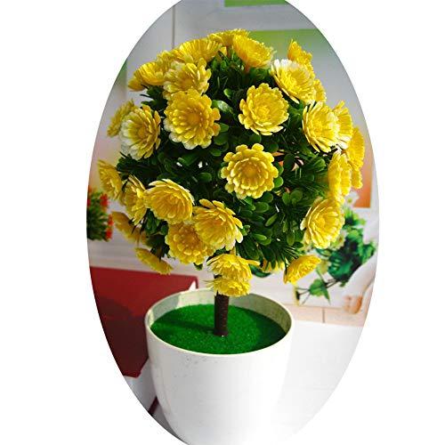 yongqxxkj - Fiore di Sole Artificiale in Vaso, per Bonsai, palcoscenico, Matrimonio, casa, Feste, Colore: Rosso Rosa, plastica, Yellow, Yellow