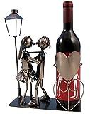 Geschenkset LIEBESPAAR Flaschenhalter mit Rotwein
