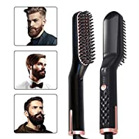 DZBMY Straightening Brush Ionic Hair Straightener Brush Hair Straightening Irons Beard Grooming kit Boy Multifunctional Men Beard Straightener Styling Multifunctional Hair Comb Brush