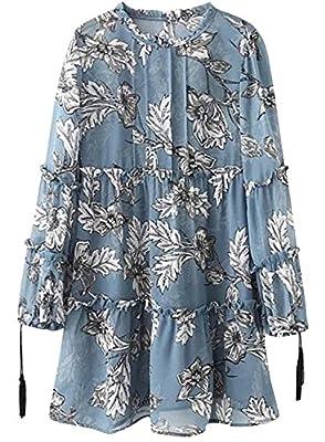 Azbro - Mini Vestido Estampado Floral