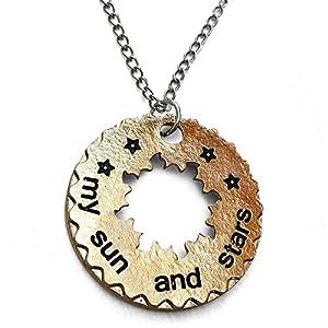 Orion Creations Game of Thrones. Joyer'a. Dorado 'Mi Sol y Las Estrellas' Khaleesi Colgante, Collar con Cortar Sol 8