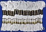 'mejor oferta' 24blanco Anchor Stranded hilo de algodón Madejas