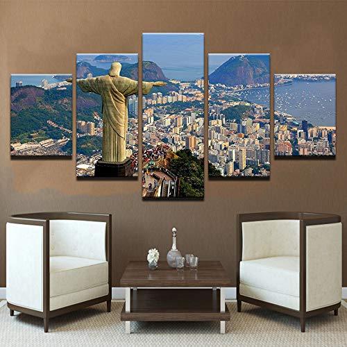Moderna Tela Immagini HD Stampato Wall Art Frame 5 Pezzi Venezia Water City Nave Sunset Scenery Living Room Home Decor Dipinti 6 40x60 40x80 40x100cm
