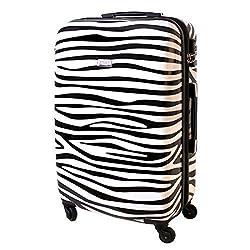 XL Hartschalen Reise Koffer Urlaub Reisen Trolley Trolly TSA Schloss Polycarbonat 85 Liter Zebra 813/818
