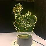 Personaggi dei cartoni animati di gioco del giogo luce acrilico novità illuminazione regalo tocco giocattolo telecomando