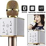 BOCOIN Wireless Bluetooth Mini Cellphone Karaoke Microphone Player