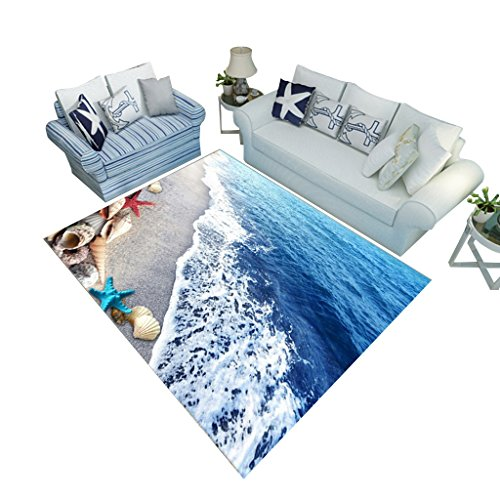 Strand Welle Gedruckt Teppich Wohnzimmer Sofa Couchtisch Teppich Foyer Bodenmatte Multi-Style Rechteckiger Teppich (Farbe : A, größe : 140 * 200CM) ()