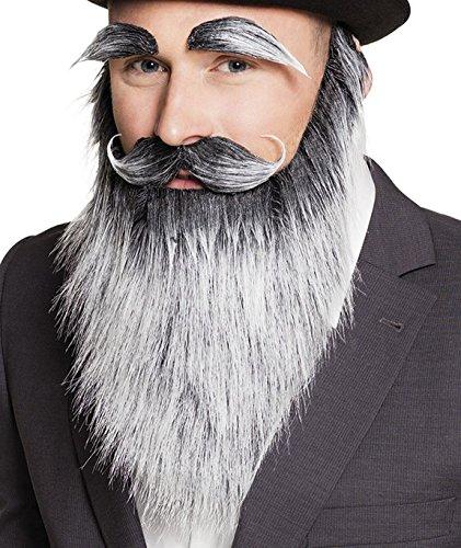 Boland 01846 Bart Alter Mann mit Augenbrauen und Schnurrbart, Kostüm, One Size (Schnurrbart Perücke)