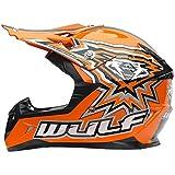Wulfsport Casco de la Moto del motocrós de Flite de los niños del Camino Bici ECE2205 del Patio del Camino aprobada | Naranja L (51-52cm)