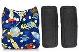 Babymoon 1 Cloth Diaper With 2 Wetfree Microfiber Insert - Azure Blue