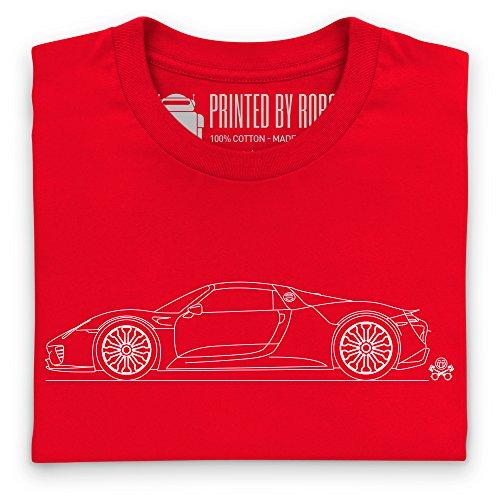 918 Sports Car T-Shirt, Damen Rot