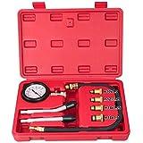 Yahee Kompressionstester KFZ Kompressionsprüfer 0-20 bar oder 0-300 psi Verdichtungsmesser inkl. Koffer mit 4 Adapter