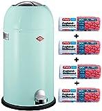 Wesco Set Kickmaster 33-Liter Mülleimer mint + 56 Stück optimal passende Müllbeutel