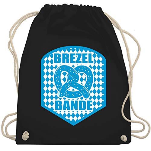 Oktoberfest Beutel - Brezelbande mit bayrischem Muster - Unisize - Schwarz - WM110 - Turnbeutel & Gym Bag (Mit Bayrischem Kostüm)
