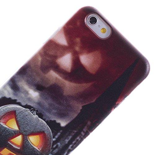 Vahalla Zubehör Hülle für iPhone 6 / iPhone 6s Gel Kürbis Halloween