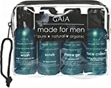 Gaia Skin Naturals over Night Travel Kit, Pure Aloe Vera Nettle Extract Avocado Rosemary Primrose Wheatgerm Oil(Face Cream, 50ml) for Men - Set of 4