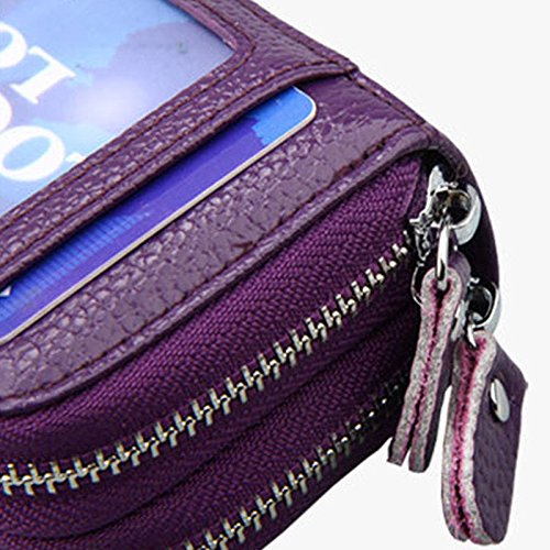 b43ba7e5cffd59 Ladies Womens Soft Leather Small Two Zip Coin Bag/Pouch/Wallet/Coin/Key  Purse New