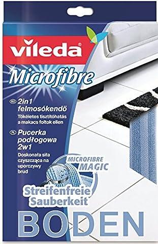 Vileda 126586Microfibre Floor Cloth 2in1with Cleaning Strips for Self Eingetrockneter