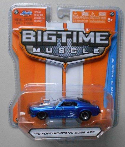 Jada Bigtime Muscle 1/64 Blue '70 Ford Mustang Boss (70 Boss 429 Mustang)