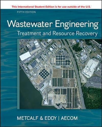 ISE WASTEWATER ENGINEERING: TREATMENT & RESOURCE RECOVERY por INC. METCALF & EDDY