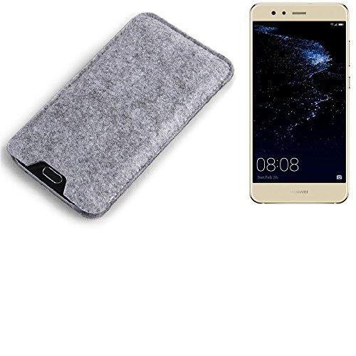 K-S-Trade Filz Schutz Hülle für Huawei P10 lite Dual-SIM Schutzhülle Filztasche Filz Tasche Case Sleeve Handyhülle Filzhülle grau