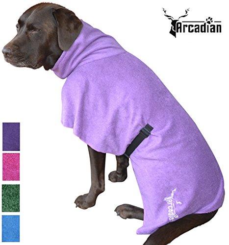 Arcadian - Accappatoio in microfibra per cani blu e rosa Accappatoio lussuoso, ottimo regalo per il tuo animale. Realizzato in microfibra leggera e di qualità, ad asciugatura rapida e super assorbente. Gli accappatoi Arcadian sono facili da usare, confortevoli e dotati di cinture regolabili. Misure: S, M, L, XL e XXL. - -