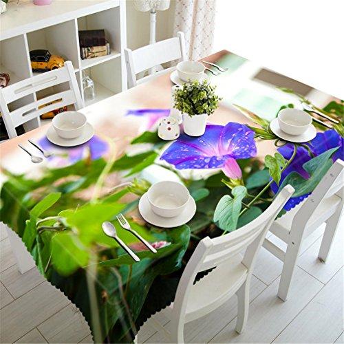Pastorale 3D Nappe Blanche Matin Glory Motif Imperméable À l'eau Tissu À Laver Épaissir Rectangulaire De Table en Tissu De Maison Textile Color 2 60cm X 60cm