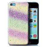Stuff4 Coque de Coque pour Apple iPhone 5C / Arc-en-Ciel Licorne Design/Effet Motif Paillettes Collection