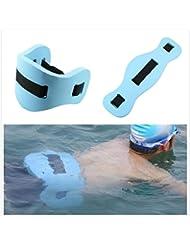 Eva ajustable placa de flotador de natación de herramientas para, parte trasera flotante de espuma para equipos de entrenamiento adulto niños, azul