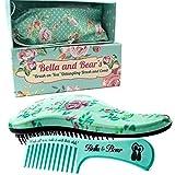 Haarbürste und Kamm als Set, um Haar zu entwirren, die beste Bürste für nasses oder trockenes Haar von Bella & Bear, keine Verknotungen des Haares mehr