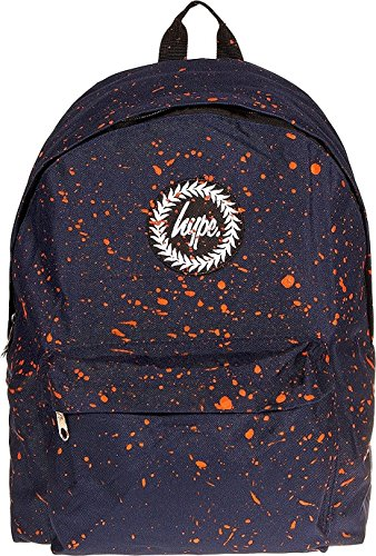 Hype Uomo Zaino, Nero Speckled Navy/Orange