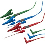 MEGGER Standard test leads (Red/Blue/Green) with prods and clips (NEW) right angle plugs