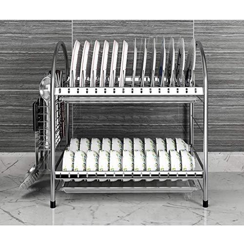BJYG Küchenregal edelstahlregal zweistöckiges küchenregal raumregal 7 Stile (Farbe: D)
