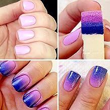 Malloom® Herramienta de bricolaje de uñas de manicura Esponjas Art Stamping Plantilla Polish Transferencia