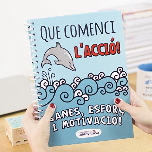 La mente es maravillosa - Cuaderno A4- Regalo para amiga con dibujos - DELFÍN/Ct