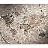 murando - Fototapete 300x210 cm - Vlies Tapete - Moderne Wanddeko - Design Tapete - Wandtapete - Wand Dekoration - Reise Weltkarte Kontinente Textur k-B-0003-a-c