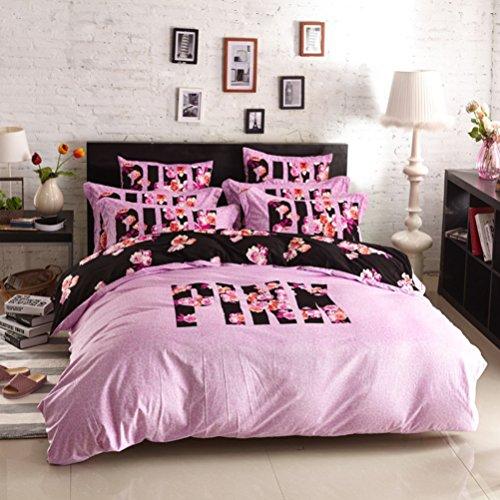 bobbycool Pink VS Secret Winter Bettwäsche-Set Samt Bettwäsche Bed Sheet Set Luxus Hochzeit Betten Set Designer-Bettwäsche Bettbezug Queen