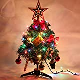 Online Traders PITS 1 Feet Christmas Tree + 9Pcs Tree Hanging Decoration Combo Set + 5 x Garland