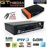 GTMEDIA V8 nova supports iptv H.265 LAN vs freesat v8 super gt media v8 nova hevc receptor de...
