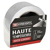 FACOM 84300 Adhésif aluminium haute température 25 m x 50 mm, Gris