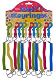 Neon Stretchy Spiral Keyring fobs (12 units carded)
