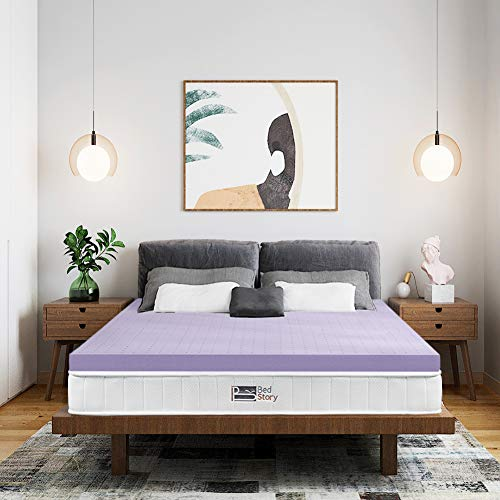 BedStory Surmatelas 140x190 à Mémoire de Forme de 5cm, sur Matelas Ergonomique avec Housse...