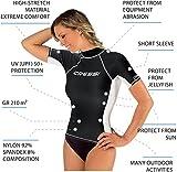 Cressi Rashguard Femme Haute de combinaison en tissu très élastique spéciale - Manches Longues et Courtes - Protection Solaire UV (UPF) 50+