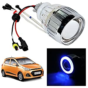 Vheelocityin Blue Ring Projector / Headlight / Headlamp For Hyundai Grand i10