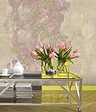 Wallpaper 4 Less Pink Green Floral -Ital...