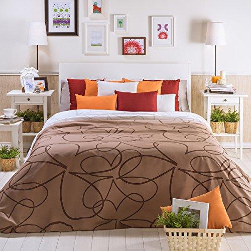 San Carlos Petalo - Juego funda nórdica, para cama de 150/160, color crema