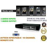I5G-AVTECH KPD679ZB-E 16 CANAUX H.264 2 TB/AUDIO HDMI 4 ENTRÉES 2 SORTIES TÉLÉCOMMANDE POUR ENREGISTREUR NUMÉRIQUE